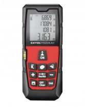 Extol Premium távolságmérő, digitális lézeres; mérési tartomány: 0,05-40m, pontosság: +/-1,5mm, 98 g