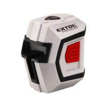 """Extol Premium automatikus lézeres vízszintező, PIROS, 1H1V (1 horizontális+1 vertikális) pontosság:0,5mm/1m, 1/4"""" menetes"""
