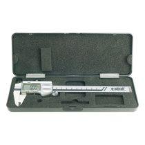 EXTOL PRÉMIUM digitális tolómérő; 0,01×150mm, mélységmérővel, pontosság 0,02mm