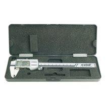 Extol Premium digitális tolómérő; 0,01×150mm, mélységmérővel, pontosság 0,02mm