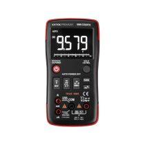 Extol Premium digitális multiméter; Amper/Volt/Ohm mérő, True RMS, hangjelző funkcióval, CE, 2 db 1,5V AA elem