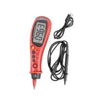 Extol Premium digitális multiméter, toll típusú; Amper/Volt/Ohm mérő, hangjelző funkcióval, CE, 2 db 1,5V AAA elem