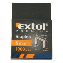 Extol Premium tűzőgépkapocs profi (10,6×0,52×1,2mm) ; 6mm, 1000db |8852201|