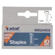 Extol Premium szeg fejjel profi tűzőgéphez 1000db ; 10mm (2,0×1,2mm) |8852403|