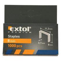 Extol Premium tűzőgépkapocs (11,3×0,52×0,7); 8mm, 1000db |8852502|