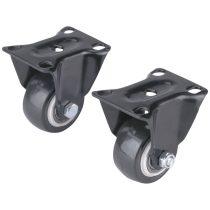 Extol Premium készülékgörgő 2 db, fix, fekete PVC, 40mm, max. teherbírás: 30 kg/db |8856012|