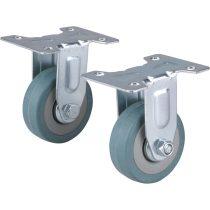 Extol Premium készülékgörgő 2 db, fix, szürke gumi, 50mm, max. teherbírás: 27 kg/db |8856024|
