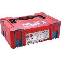 EXTOL PRÉMIUM tároló doboz, ABS, M méret, 443×310×151mm, falvastagság 2,5mm, teherbírás max 100kg, tömeg: 1820g