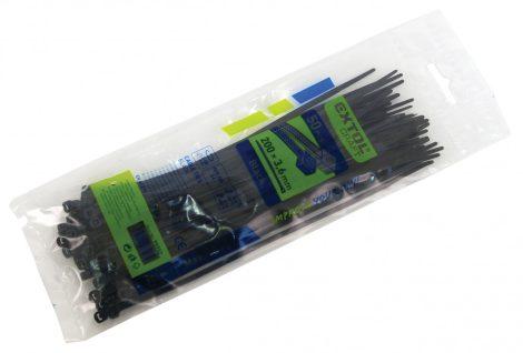 Extol Premium kábelkötegelő 7,6×500mm 50db, fekete nylon;  8856172 