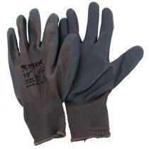 Extol Premium Kötött kesztyű szürke nylon, méret: 10' nitrilbe mártott teny. és ujjhegy., gumírozott mandzsetta