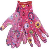 Extol Lady kerti kesztyű, rózsaszín, nylon, méret: 7' nitrilbe mártott teny. és ujjhegy., gumírozott mandzsetta, Extol Lady