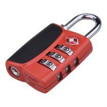 Extol Premium bőröndlakat, TSA számzáras, 1000 db kód beállítható, 32×60×14mm, kengyelátmérő: 3,5 mm, részben gumirozott