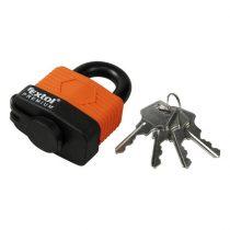 Extol Premium lakat, laminált, vízálló, 4db kulcs; 40mm, kengyelszárátmérő:8/12mm |8857540|