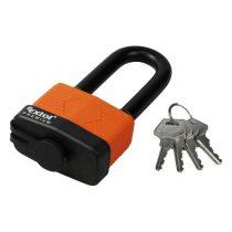 Extol Premium lakat, laminált, vízálló, hosszított kengyel, 4db kulcs; 65mm, kengyelszárátmérő:13/18mm |8857665|