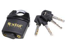 Extol Premium biztonsági lakat, levágás elleni védelemmel, festett, vízálló, 4db kulcs; 50mm