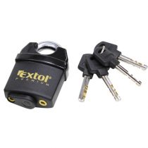 Extol Premium biztonsági lakat, levágás elleni védelemmel, festett, vízálló, 4db kulcs; 60mm |8857760|