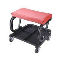 Extol Premium szerelőszék, gurulós, ülés alatti szerszámtartó, méretek: 340×375×375 mm, max. statikus terhelés: 120 kg, tömeg: 3,5 kg