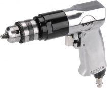 """EXTOL PRÉMIUM pneumatikus fúrógép,1-10mm befogás, kulcsos tokmány (3/8""""-24UNF) 1.800 1/min, 113l/min, 6,3 Bar, 1/4"""" tömlőcsatl.,1,1 kg"""