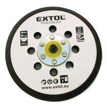 """Extol tartalék gumi talp 8865038 rotációs csiszológéphez, 6""""/150mm, 8 db lyuk, tépőzáras, max. 12.000/perc, vastagság: 10mm"""