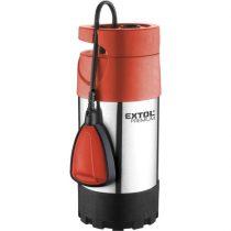 EXTOL PRÉMIUM búvárszivattyú tiszta vízhez, úszókapcsolóval, 1000W, INOX ház, szállító teljesítmény: 5,5m3/h, max. száll.40m