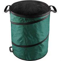 EXTOL kerti levélgyűjtő/tároló zsák, henger alakú, acélrugós/önfelnyíló, 55×72cm, 170L, zöld, 3 fogantyú, PES (poliészter)
