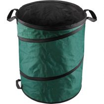 Extol Craft kerti levélgyűjtő/tároló zsák, henger alakú, acélrugós/önfelnyíló, 55×72cm, 170L, zöld, 3 fogantyú, PES (poliészter)  92900 