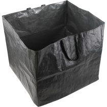 Extol Craft kerti levélgyűjtő/tároló zsák, négyzet alakú, 60×60×55cm, 200L, sötétzöld, 2 fogantyú, PE (polietilén)  92902 