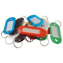 Extol Craft kulcscimke 12db, színes műanyag; címke hellyel |9398|