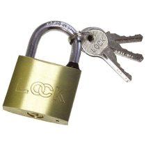 Extol Craft lakat, erősített, 3 kulccsal (réz); 40mm