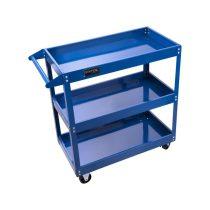 Extol Craft műhelykocsi (szerszámkocsi/szerszámtartó), 3 tálcás, gurulós, max. kapacitás:120 kg, saját tömeg: 10,5 kg