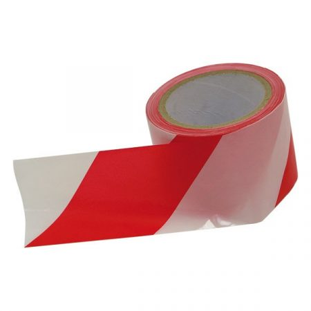 Extol Craft jelölő szalag, piros-fehér; 75mm×100m, polietilén (kordonszalag)