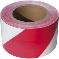 Extol Craft jelölő szalag, piros-fehér; 75mm×250m, polietilén (kordonszalag) |9566|