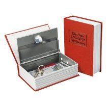 Extol Craft pénzkazetta, könyv típusú, 2db kulccsal, változó színekben, festett acél, műanyag/papír borítás ; 180×115×54mm |99016|
