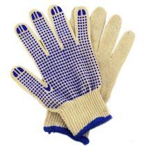 Extol Craft kötött kesztyű, fehér, pamut, PVC pöttyökkel, méret:  10' |99708|