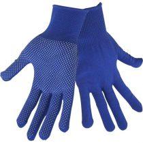 Extol Craft kötött kesztyű, kék, PE, fehér PVC pöttyökkel, méret:  8'  99713 