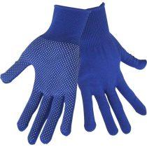Extol Craft kötött kesztyű, kék, PE, fehér PVC pöttyökkel, méret:  9'