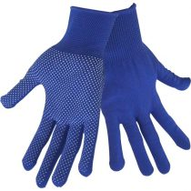Extol Craft kötött kesztyű, kék, PE, fehér PVC pöttyökkel, méret:  10'