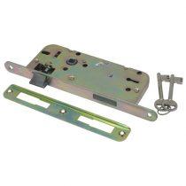 Flame Beltéri bevésőzár, 45×90×20×7mm-es, 2 kulcsos, kerek előlappal, Flame |84644|