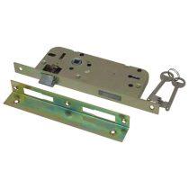 Flame Beltéri bevésőzár,, 45×90×20×7mm-es, 2 kulcsos, szögletes előlappal, Flame |84645|