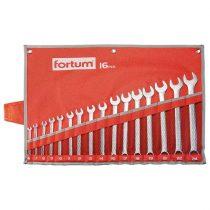 Fortum csillag-villás kulcs klt. 16db, 6-24mm 61CrV5, mattkróm, vászon tok |4730201|
