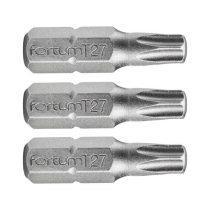 Fortum behajtóhegy TORX, 3 db, S2 acél; T 20×25mm, bliszteren
