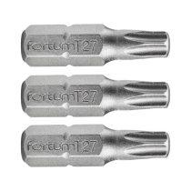 Fortum behajtóhegy TORX, 3 db, S2 acél; T 30×25mm, bliszteren