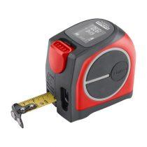 Fortum lézeres távolságmérő mérőszalaggal, 40 m / 5 m×19 mm, lézer pontoság: 2 mm, FORTUM