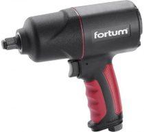 """Fortum légkulcs, 1/2"""", 880Nm, (Twin Hammer); 7000 1/min, 198l/min, 6,3 Bar, 1/4"""" tömlőcsatlakozó, 2,0kg"""