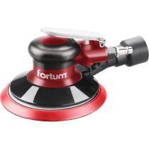 """Fortum pneumatikus rotációs csiszoló, 150mm, excentricitás: 5mm; 10.000 1/min, 226 l/min, 6 Bar, 1/4"""" tömlőcsatlakozó, 0,8 kg"""