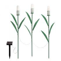 Garden of Eden LED-es szolár lámpa - nád formájú - melegfehér - fém - 3 db / csomag