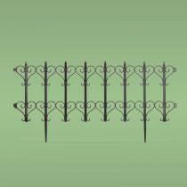 Garden of Eden Virágágyás szegély / kerítés 61 x 30 cm - fekete