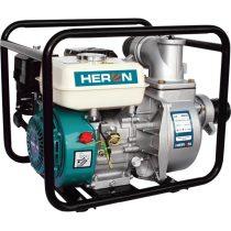 """Heron benzinmotoros vízszivattyú, 6,5 LE, max.1100l/min, max.28m emelőmag, 3""""csőátm (EPH-80)"""