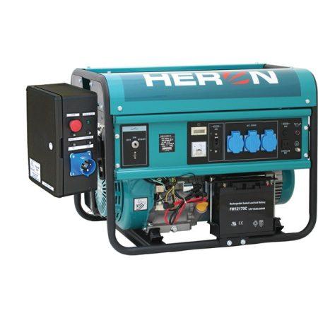 Heron benzinmotoros áramfejlesztő + HAV1 indító automatika, max 5500 VA, egyfázisú, elektromos önindítóval (EGM-55 AVR-1E) |8896115-AU1|