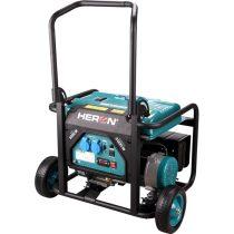 Heron benzinmotoros áramfejlesztő, 1 fázisú, valós teljesítmény max. 3 kVA, ráírt teljesítmény: 3,5 kVA